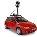 Flagramos o carro do Google Street View